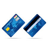 Popular blue premium extended business credit card  vect Royalty Free Stock Images