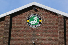 Popular Brooklyn Brewery. BROOKLYN, NEW YORK - JUNE 4, 2017: Popular Brooklyn Brewery in Williamsburg neighborhood in the New York City borough of Brooklyn royalty free stock photography