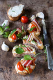 Popular bruschettas Stock Images