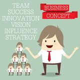 Popular businessman group with innovate business concept made wi Stock Photography