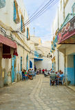 The popular cafe in Sousse Stock Photography