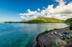 The popular car stopp point Captain Matthew Flinders Monument in Mauritius.