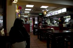 Chinese fast-food restaurant taiwan. A popular Chinese fast food restaurant in Taipei. It is inexpensive Stock Images