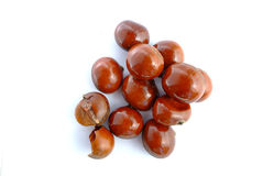 Popular Chinese snack stir fried chestnuts Stock Image