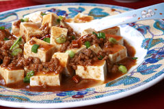 Popular Chinese Spicy Dish from Sichuan Tofu Stock Photo