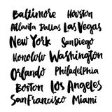 Popular Cities United States of America. Royalty Free Stock Image