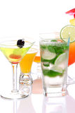 Popular cocktails with alcoho Royalty Free Stock Images