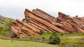 Popular Colorado jogging trail within the red rock bluffs Royalty Free Stock Photo