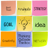 Popular creative words on sticky note Royalty Free Stock Photo