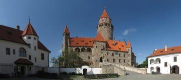 Popular Czech castle Bouzov Stock Images