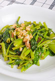 Sauteed garlic kangkong Royalty Free Stock Image