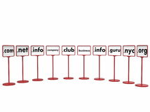 Popular Domain Names, Internet Concept Stock Image