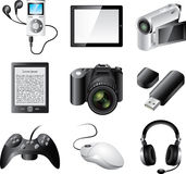 popular electronic devices Royalty Free Stock Photography