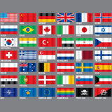 Popular Flags Vector. Stock Image