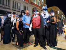 Popular fun modern Halloween October 31, 2015 Malaga, Spain Stock Images