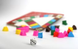 Popular group dice game stock photo