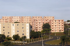 Popular residential. Buildings of popular apartments in brazil Stock Photo