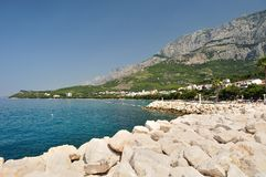 Popular holiday resort Tucepi. Makarska Riviera, Dalmatia, Croatia Royalty Free Stock Photography