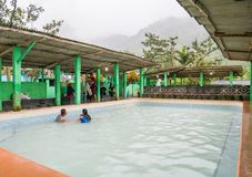 Hot Spring in Berastagi, Indonesia. Popular Hot Spring in Berastagi, Indonesia. Hot water comes from Sibayak Mountain. People come here in wekeend or at night stock image