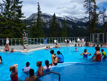 The popular hot springs at banff Stock Photography