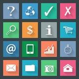 Popular icons set Stock Photos