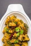 Popular indian main course vegetable Pumpkin dry curry or kaddooor kaddu ki sabzi in hindi, lal bhopla chi bhaji in marathi, selec Royalty Free Stock Photography