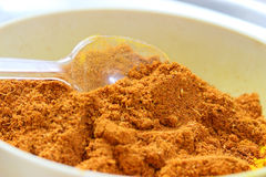 Popular Indian spices mixture. Mixture of Indian spices used in the traditional food called curry or curries. It is a very common ingredient and important and stock image