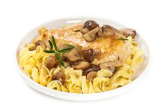 Popular Italian American dish, Marsala Chicken Royalty Free Stock Photo
