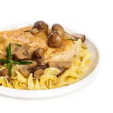 Popular Italian American dish, Marsala Chicken Stock Photography