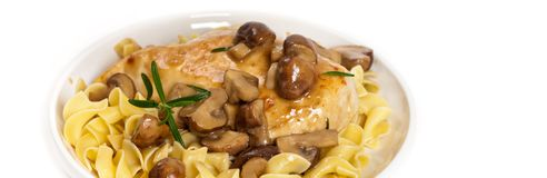 Popular Italian American dish, Marsala Chicken Royalty Free Stock Image
