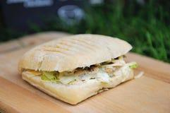 Popular Italian panini sandwich with ham Royalty Free Stock Photos