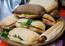 Popular Italian panini sandwich with ham Stock Photography