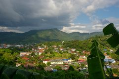 A popular Kamala valley seen from the hill in Phuket Thailand. A popular Kamala beach seen from the hill in Phuket Thailand Royalty Free Stock Photography