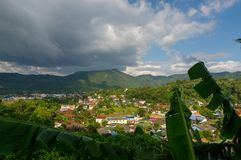 A popular Kamala valley seen from the hill in Phuket Thailand. A popular Kamala beach seen from the hill in Phuket Thailand Royalty Free Stock Photos
