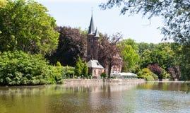 Lake Minnewater, Bruges, Brugge, Belgium Royalty Free Stock Photo