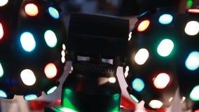 Popular light music background illuminated stock video footage