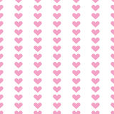 Popular love heart decor inspiration idea valentines day pattern Stock Images