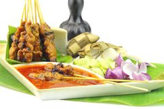 Popular Malaysia Grilled Chicken Satay Royalty Free Stock Images