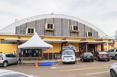 Popular market called Mercadao Municipal. Campo Grande, Brazil - February 24, 2018: Popular market called Mercadao Municipal. A market that has many small royalty free stock photos