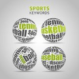 Popular Medical Terms in a Ball shape royalty free illustration