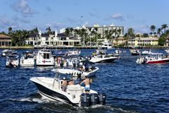 Popular Meeting Area for Boaters Stock Photo