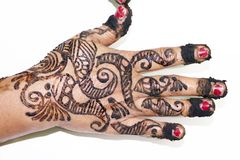 Popular Mehndi Designs for Hands Indian traditions. Popular Mehndi Designs for Hands or Hands painted with Mehandi Indian traditions stock image