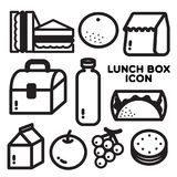 LUNCH BOX ICON Royalty Free Stock Images