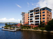 Popular modern apartment living. Caloundra, Qld Australia - Apr 21, 2011: Popular modern apartment living on Queensland's Sunshine Coast on Apr 21, 2011. Living Stock Photography