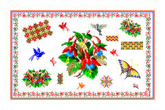 Popular motif, pattern, regular motif, tablecloth Stock Photography