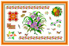 Popular motif, pattern, regular motif, tablecloth