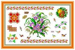 Popular motif, pattern, regular motif, tablecloth Stock Photos