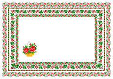 Popular motif, pattern, regular motif, tablecloth Royalty Free Stock Photography