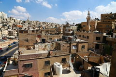 Popular neighborhoods. Monolith houses and narrow streets, and one lives in the , lives in the building is not less than twenty people. this view is in Amman royalty free stock photography