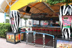 Popular outdoor Congo Bar along the Port Of Miami beachwalk,April,2013. Royalty Free Stock Photography